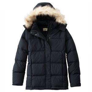 L.L.BEAN Ultrawarm Down-Filled Black Jacket Fur